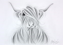 Evie McMoo Sketch by Jennifer Hogwood -  sized 17x12 inches. Available from Whitewall Galleries